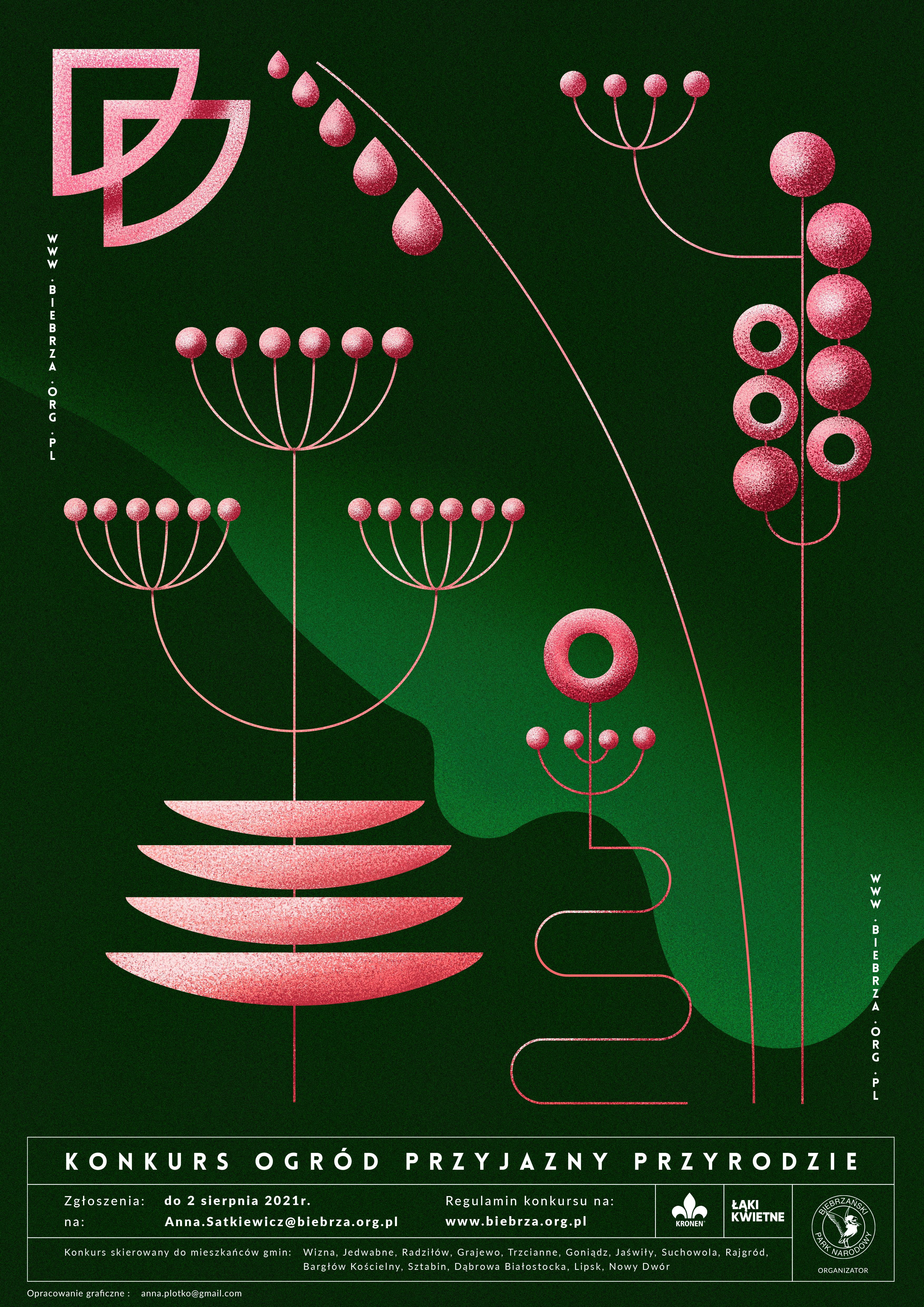 Plakat konkursowy - Ogród przyjazny przyrodzie